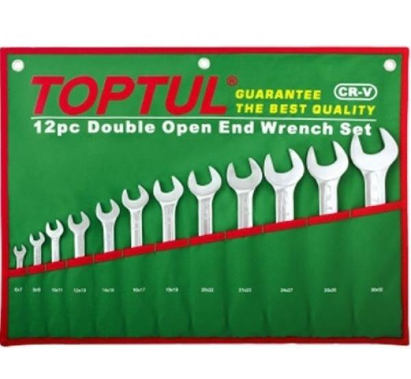 Набор ключей рожковых 6-32мм, 12шт, GAAA1206, Toptul