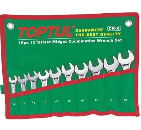 Набор ключей комбинированных, 10-19мм, 10шт, GAAA1002, Toptul