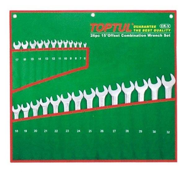 Набор ключей комбинированных, 6-32мм, 26шт, GAAA2604, Toptul