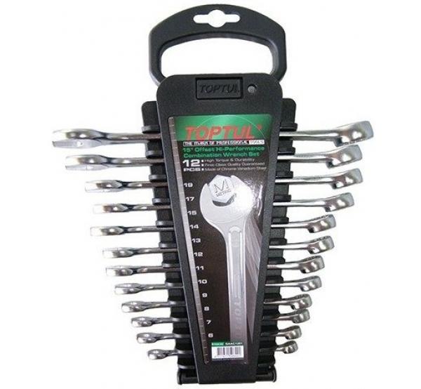Набор ключей комбинированных, 6-19мм, 12шт, GAAC1201, Toptul