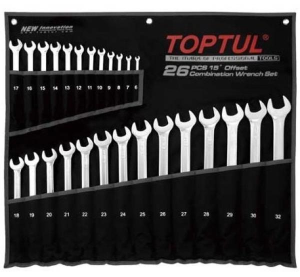 Набор ключей комбинированных, 6-32мм, 26шт, GPAA2602, Toptul