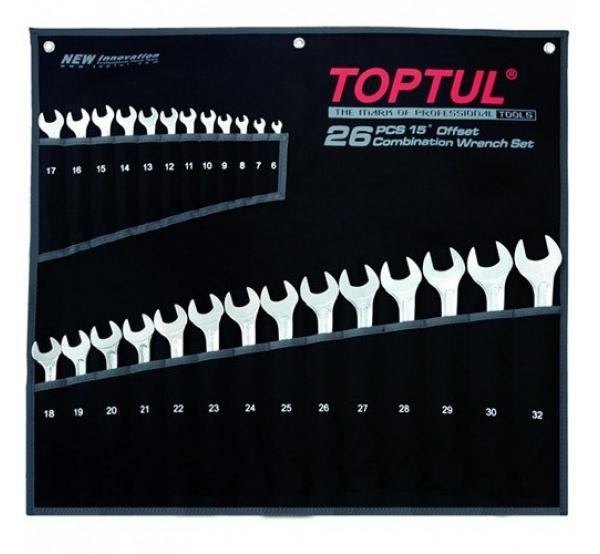 Набор ключей комбинированных, 6-32мм, 16шт, GPAW2601, Toptul
