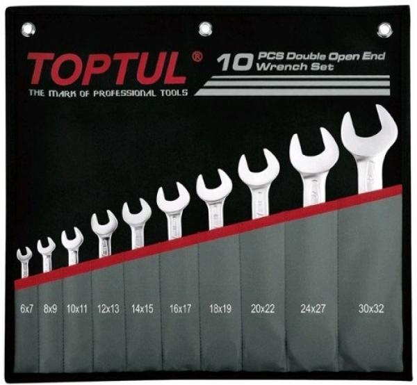 Набор ключей рожковых 6-32мм, 10шт, GPCJ1001, Toptul
