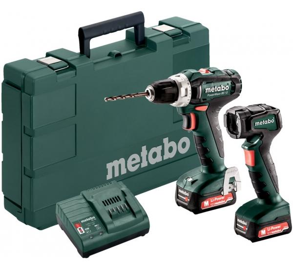Набор аккумуляторного инструмента Metabo PowerMaxx BS 12 Set (601036900)