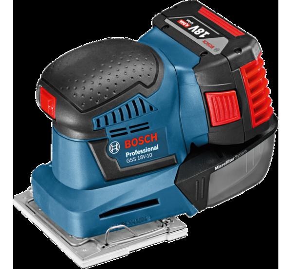 Аккумуляторная вибрационная шлифмашина Bosch GSS 18V-10 (06019D0200)