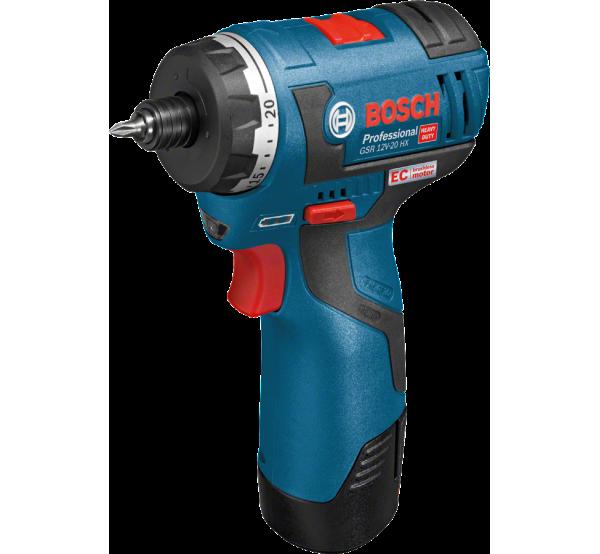 Аккумуляторный шуруповерт Bosch GSR 12V-20 HX (06019D4100)