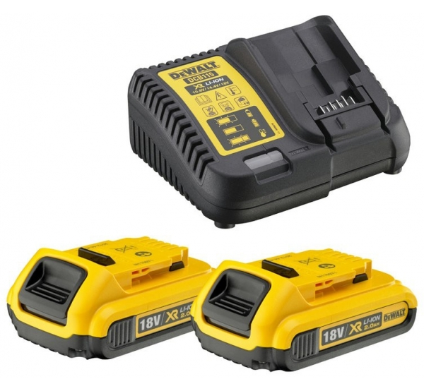Зарядное устройство + 2 аккумулятора DeWALT DCB115D2
