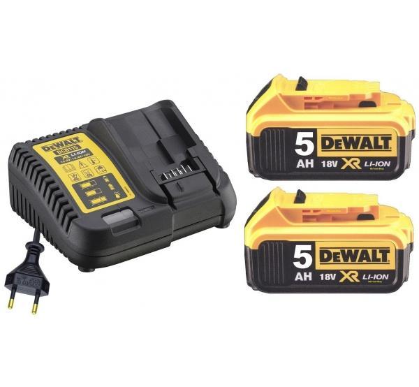 Зарядное устройство + 2 аккумулятора DeWALT DCB115P2