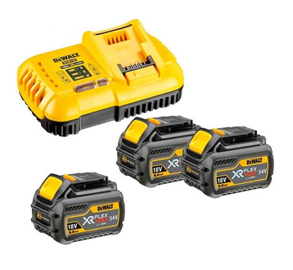Зарядное устройство + 2 аккумулятора DeWALT DCB118T3