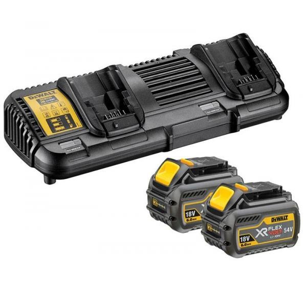 Зарядное устройство + 2 аккумулятора DeWALT DCB132T2