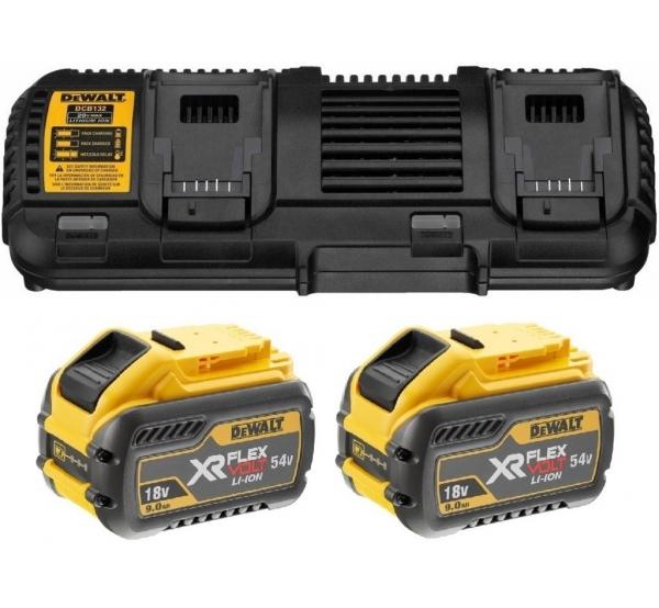 Зарядное устройство + 2 аккумулятора DeWALT DCB132X2