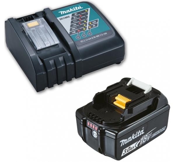 Зарядное устройство + 1 аккумулятор Makita DC18RC (191A24-4)