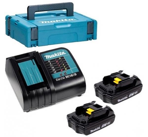 Зарядное устройство + 2 аккумулятора Makita (197136-5)