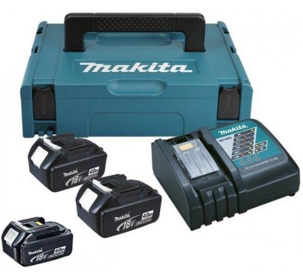 Зарядное устройство + 3 аккумулятора Makita DC18RC (197495-7)