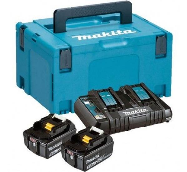 Зарядное устройство + 2 аккумулятора Makita DC18RD (197629-2)