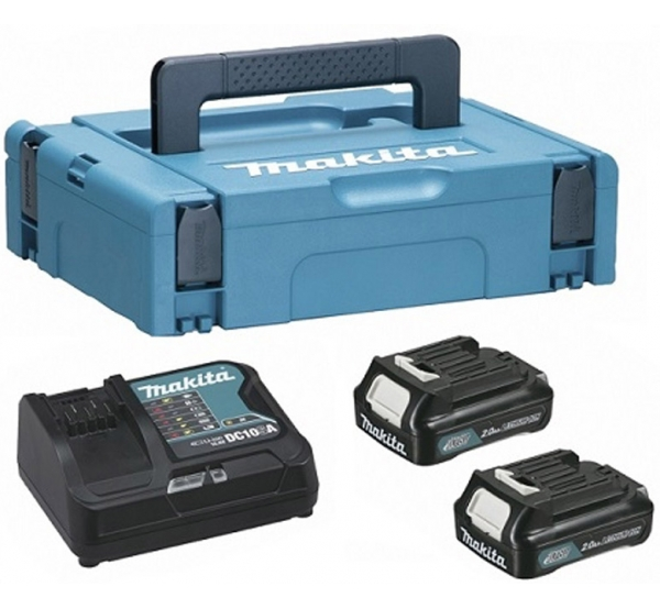 Зарядное устройство + 2 аккумулятора Makita DC10SA (197657-7)