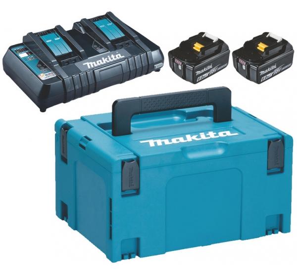 Зарядное устройство + 2 аккумулятора Makita DC18RD (198077-8)