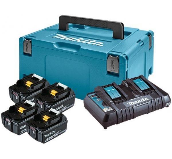 Зарядное устройство + 4 аккумулятора Makita DC18RD (198091-4)