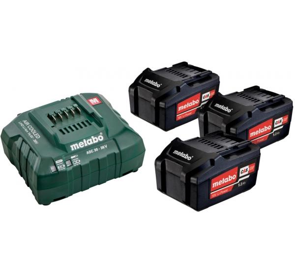 Зарядное устройство + 3 аккумулятора Metabo (685048000)