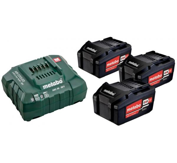 Зарядное устройство + 3 аккумулятора Metabo (685049000)