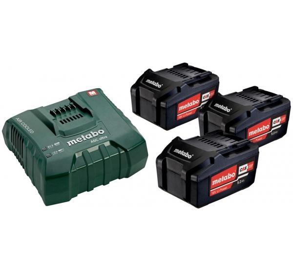 Зарядное устройство + 3 аккумулятора Metabo (685061000)