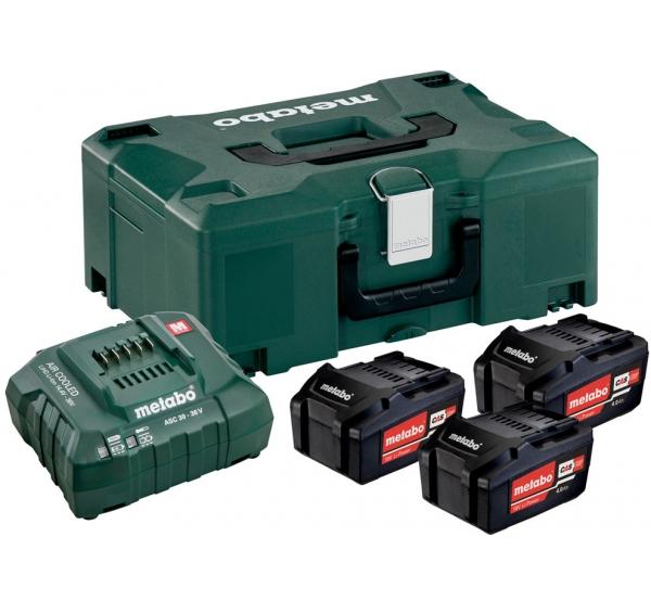 Зарядное устройство + 3 аккумулятора Metabo (685063000)