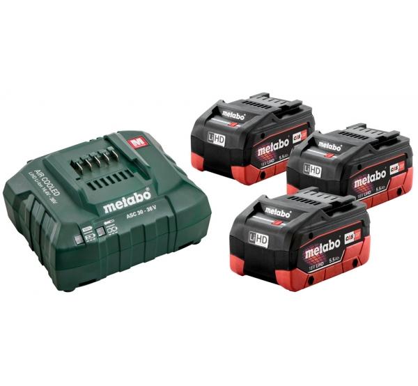 Зарядное устройство + 3 аккумулятора Metabo (685074000)
